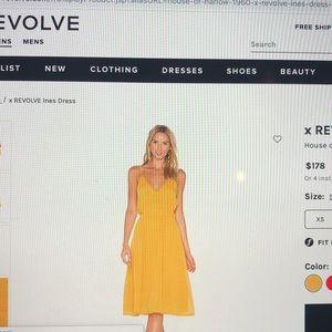 Revolve house of Harlow yellow mustard dress